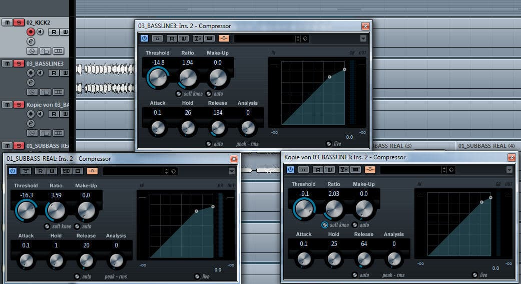Side Chain Kompression Cubase