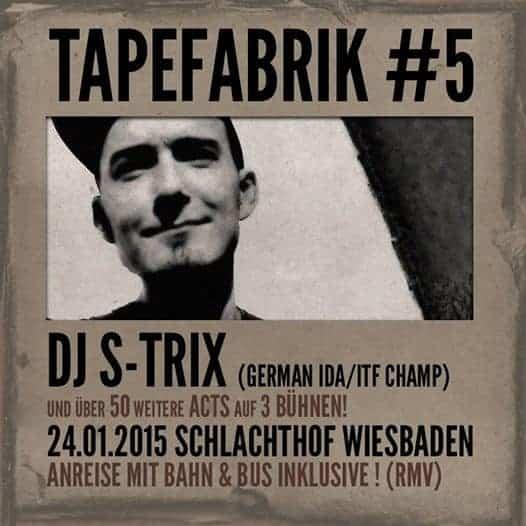 TAPEFABRIK #5 mit DJ S-TRIX Cover