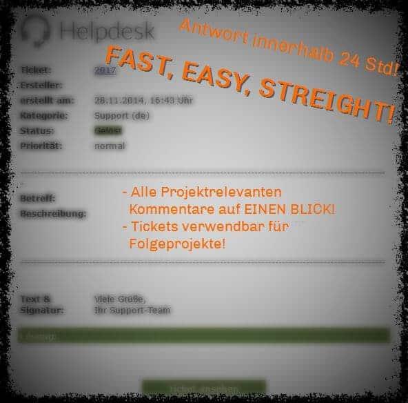 E-Mastering Helpdesk Ticketsystem von Peak-Studios