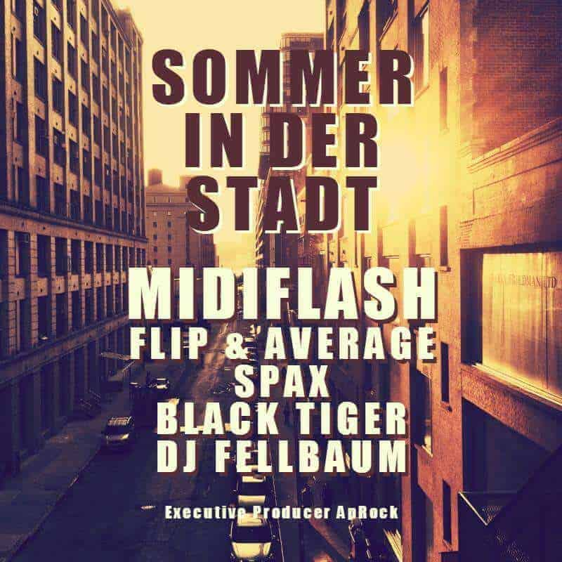 Midiflash, Flip, Average, Spex, Black Tiger, DJ Fellbaum- Sommer in der City (CD Cover)