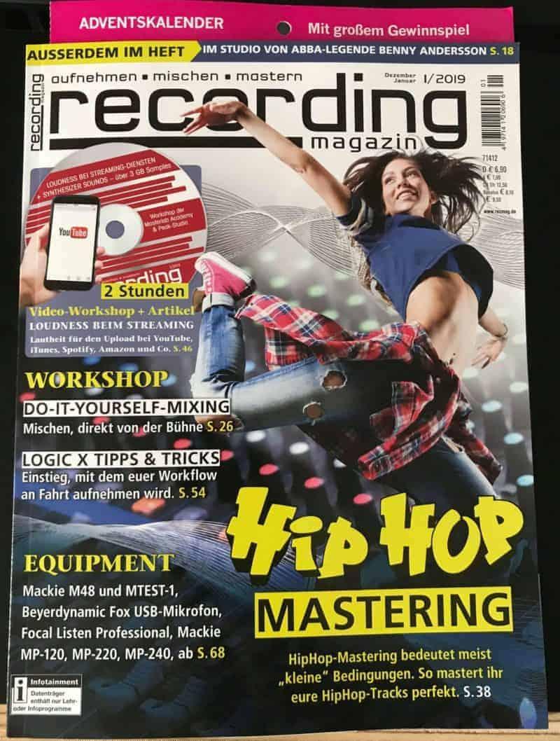 Recording Magazin Ausgabe 01/19 Cover