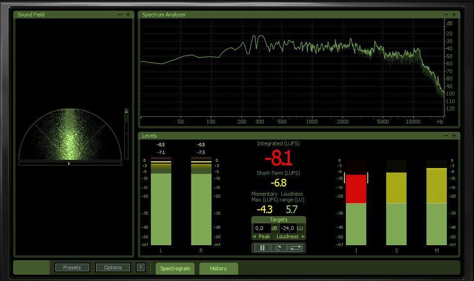 Audio Mastering Metering mit Izotope Audiomastering Software